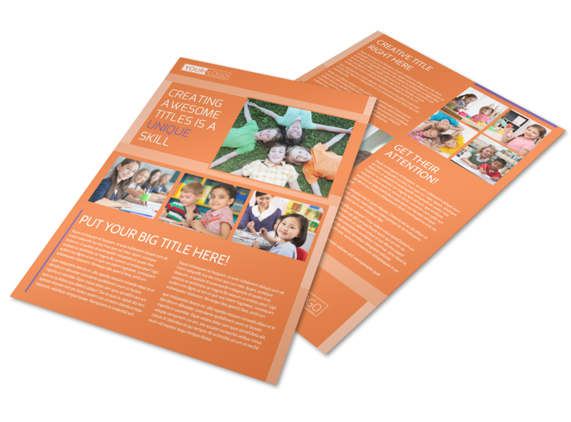 Child Learning Center Flyer Template Preview 1
