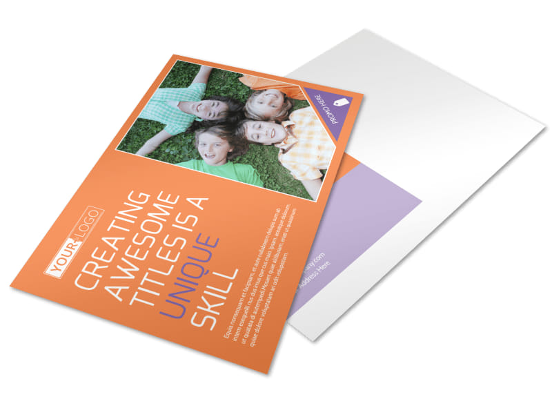Child Learning Center Postcard Template