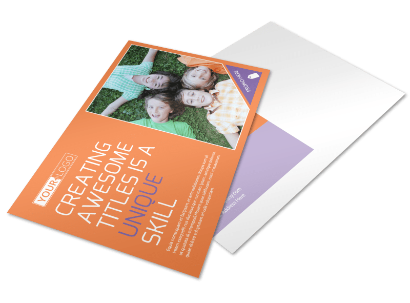 Child Learning Center Postcard Template Preview 1