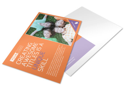 Child Learning Center Postcard Template preview