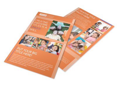 Child Learning Center Flyer Template preview