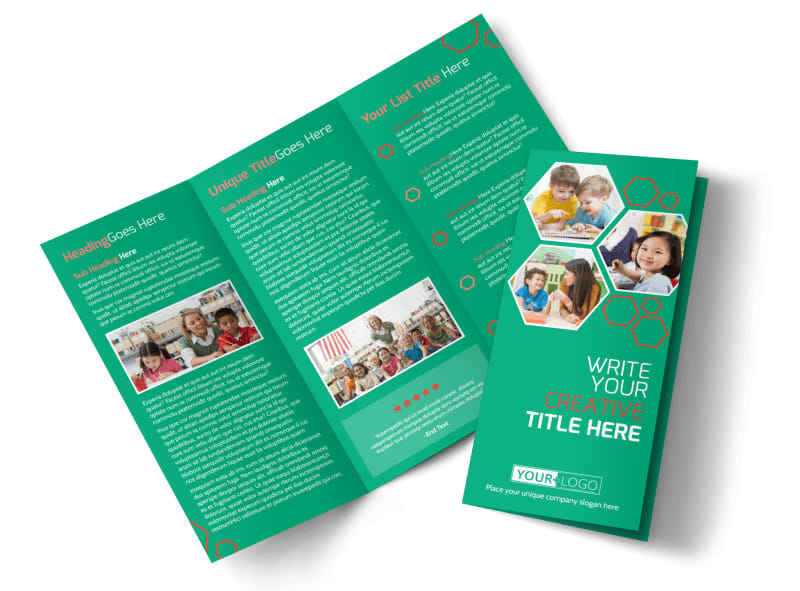 Child Learning Facility Tri-Fold Brochure Template