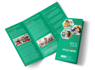 Child Learning Facility Tri-Fold Brochure Template preview