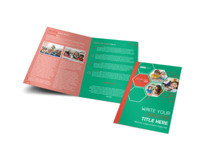 Child Learning Facility Bi-Fold Brochure Template