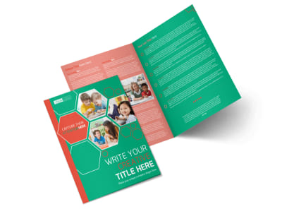 Child Learning Facility Bi-Fold Brochure Template preview