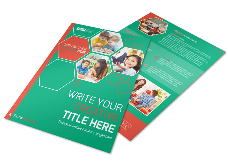 Child Learning Facility Flyer Template