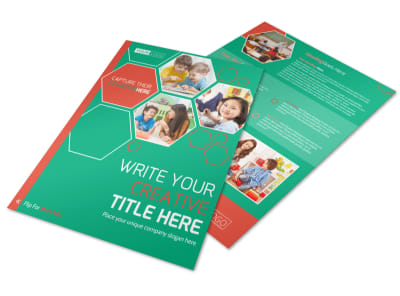 Child Learning Facility Flyer Template preview