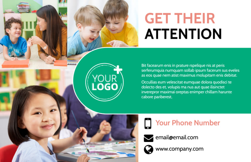 Child Learning Facility Postcard Template Preview 2