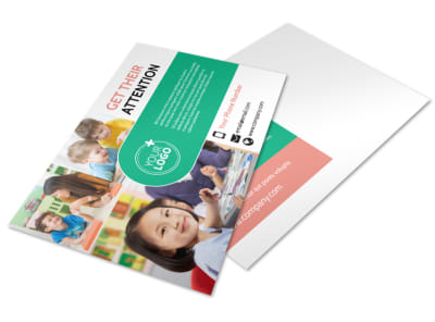 Child Learning Facility Postcard Template