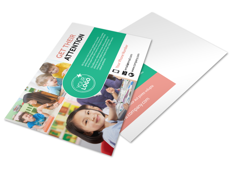 Child Learning Facility Postcard Template Preview 1