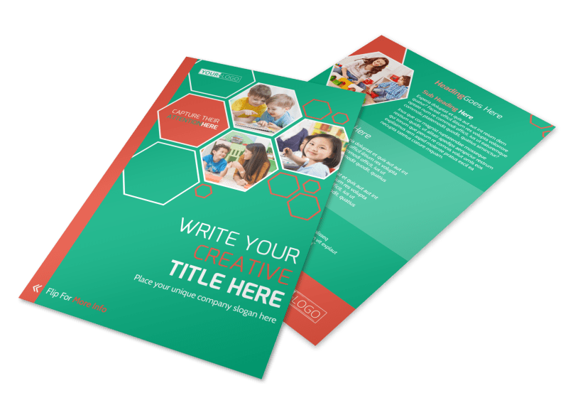 Child Learning Facility Flyer Template Preview 1