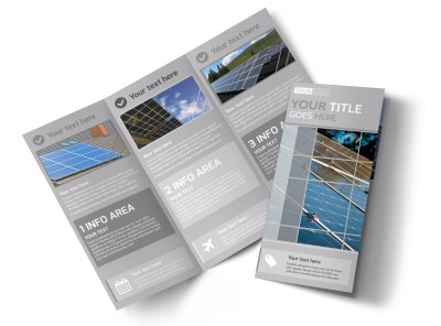 Solar Power Manufacturers Tri-Fold Brochure Template preview