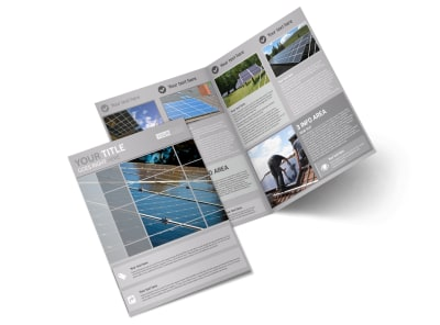 Solar Power Manufacturers Bi-Fold Brochure Template preview