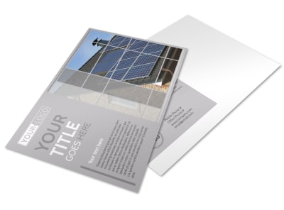 Solar Power Manufacturers Postcard Template preview