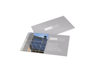 Solar Power Manufacturers Business Card Template preview