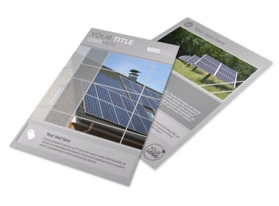 Solar Power Manufacturers Flyer Template preview