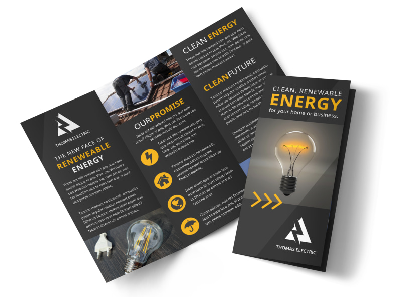 Renewable Energy Brochure Template Preview 4