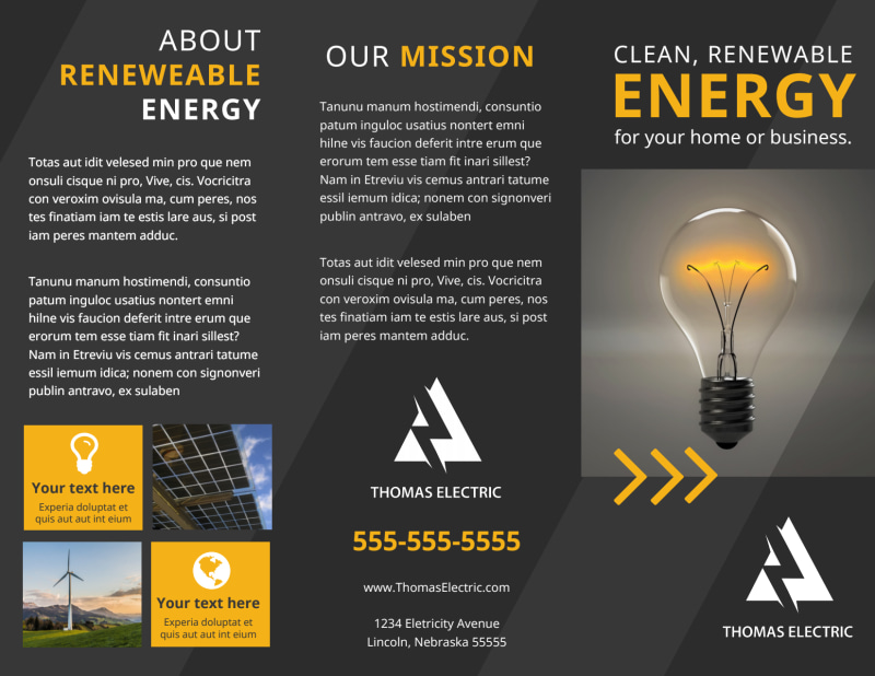 Renewable Energy Brochure Template Preview 2