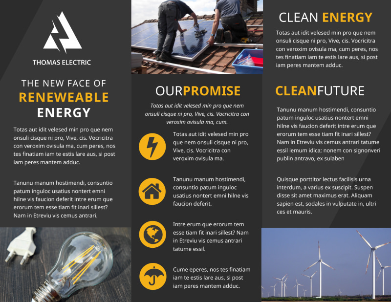 Renewable Energy Brochure Template Preview 3