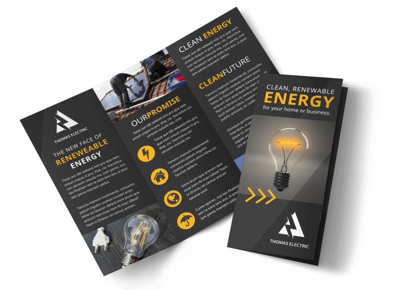 Renewable Energy Brochure Template Preview 1