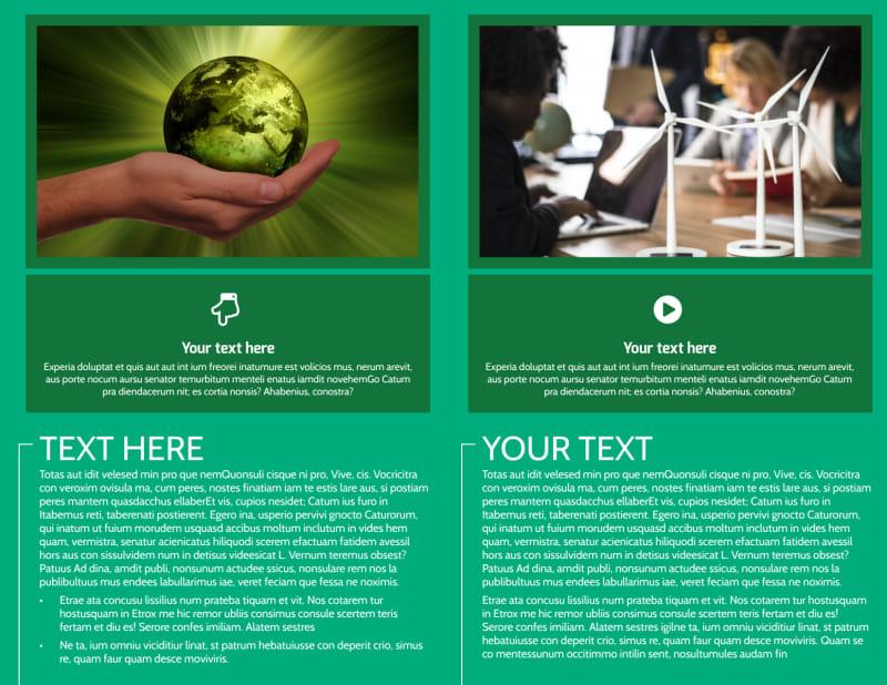 Renewable Energy Brochure Template Preview 3