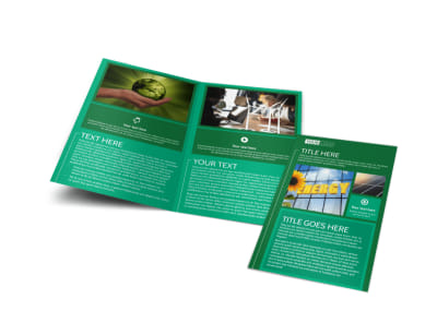Renewable Energy Bi-Fold Brochure Template