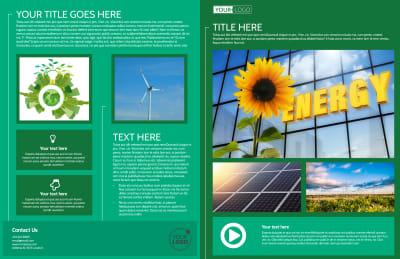 Renewable Energy Brochure Template Preview 1