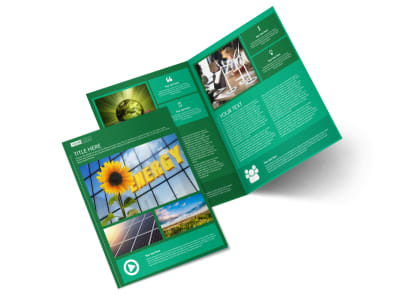 Renewable Energy Bi-Fold Brochure Template preview