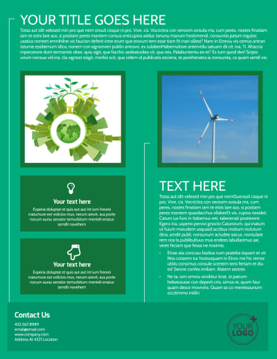 Renewable Energy Flyer Template Preview 2