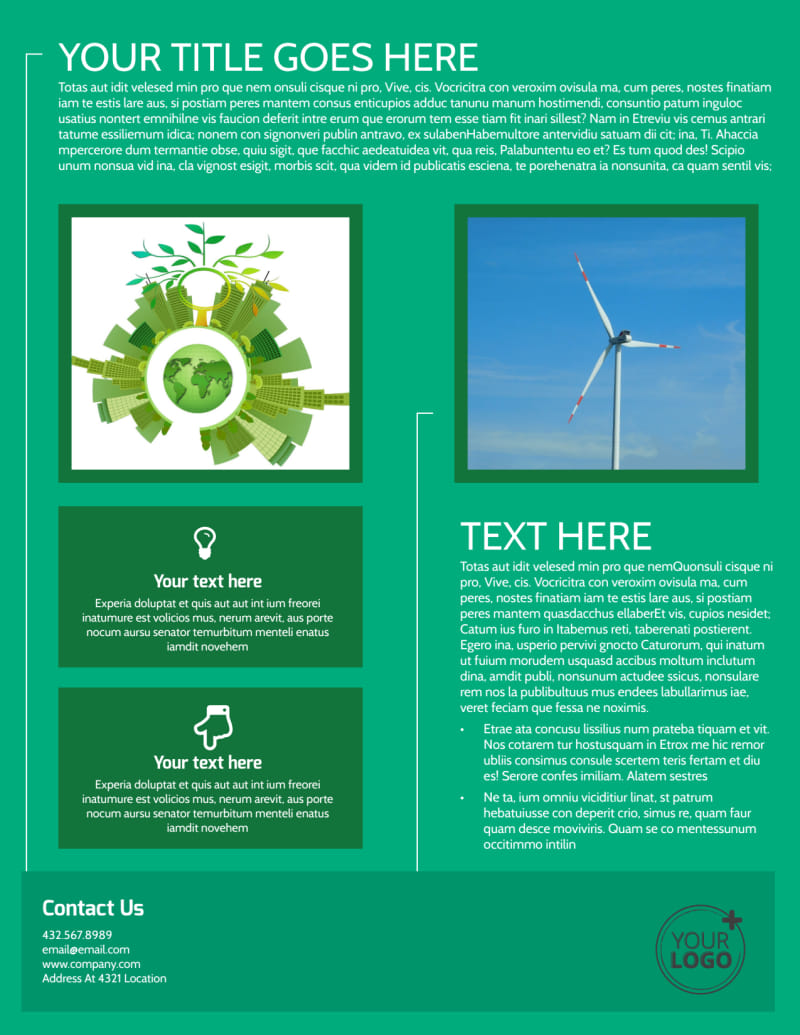 Renewable Energy Flyer Template Preview 3