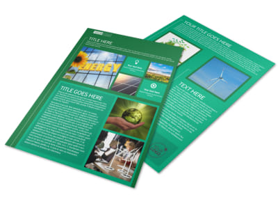 Renewable Energy Flyer Template