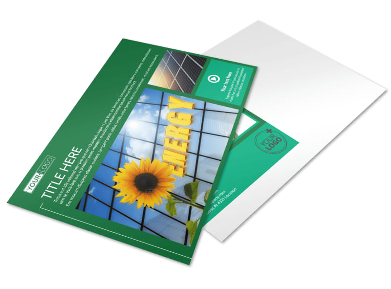 Renewable Energy Postcard Template