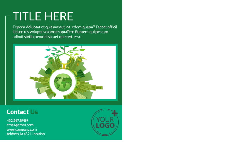 Renewable Energy Postcard Template Preview 3