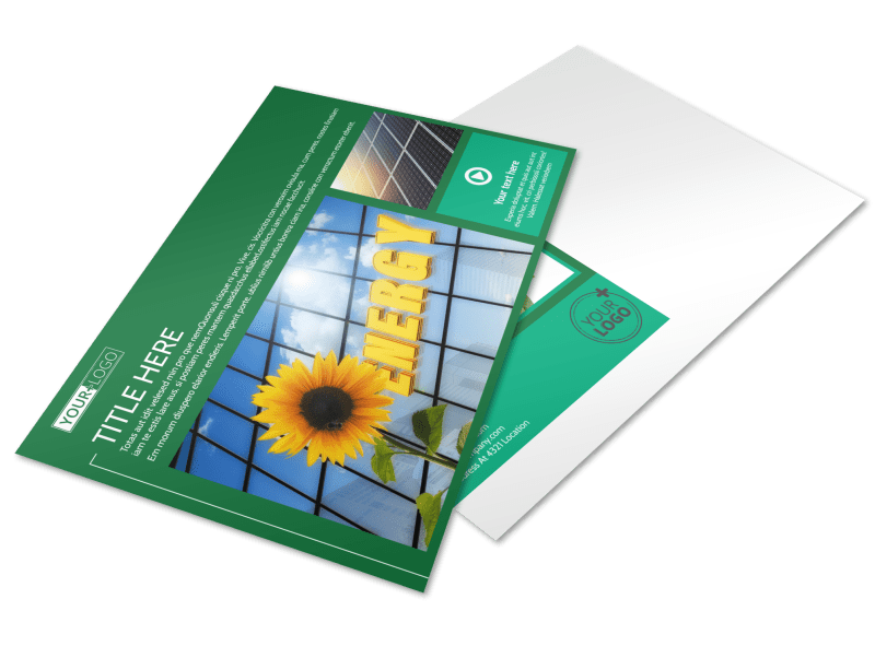 Renewable Energy Postcard Template Preview 1