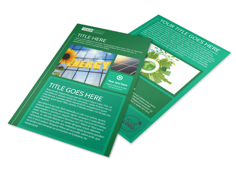 Renewable Energy Flyer Template Preview 4
