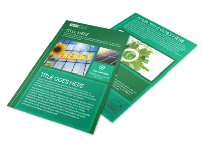 Renewable Energy Flyer Template preview