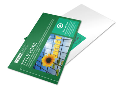 Renewable Energy Postcard Template preview