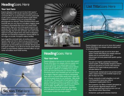 Wind Turbine Brochure Template Preview 2