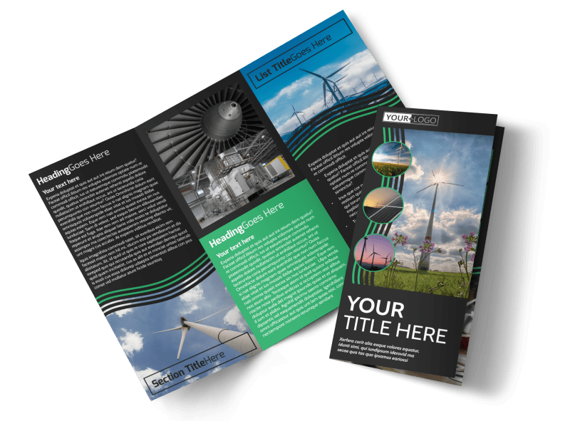 Wind Turbine Brochure Template Preview 1