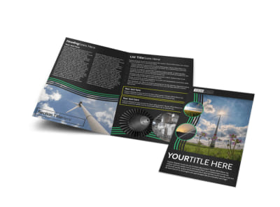 Wind Turbine Bi-Fold Brochure Template preview