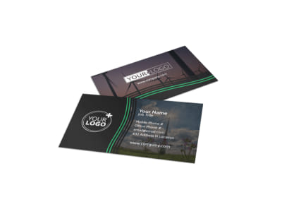 Wind Turbine Business Card Template preview