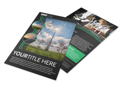 Wind Turbine Flyer Template preview