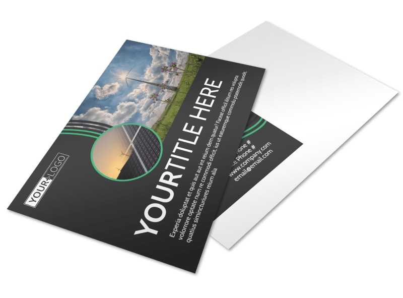 Wind Turbine Postcard Template