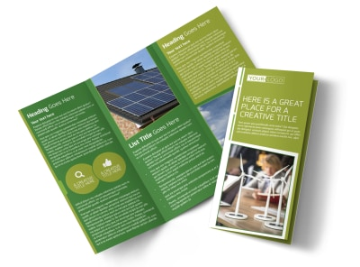 Energy Conservation Service Tri-Fold Brochure Template preview