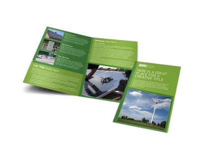 Energy Conservation Service Bi-Fold Brochure Template preview