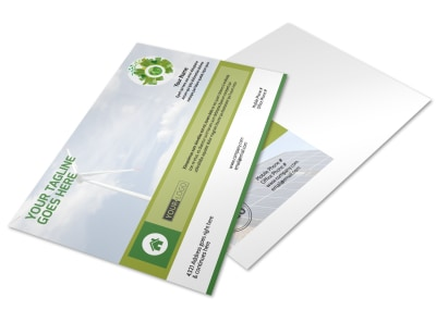 Energy Conservation Service Postcard Template preview