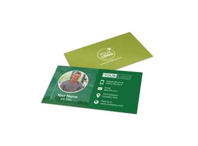 Energy Conservation Service Business Card Template preview