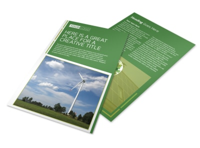 Energy Conservation Service Flyer Template preview