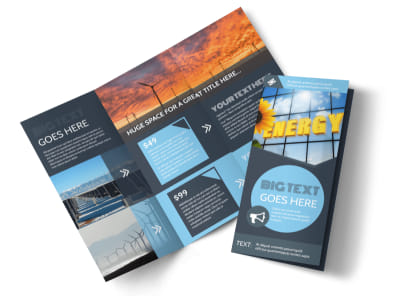 Renewable Energy Consultants Tri-Fold Brochure Template