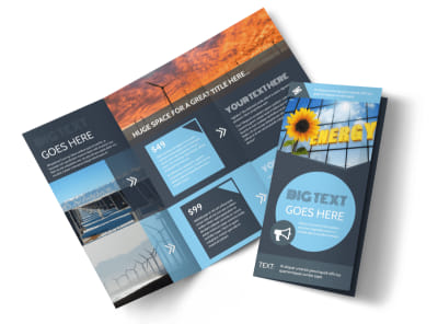 Renewable Energy Consultants Tri-Fold Brochure Template preview